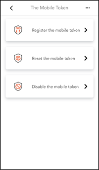 1.Service and Settings> Activate Mobile Token